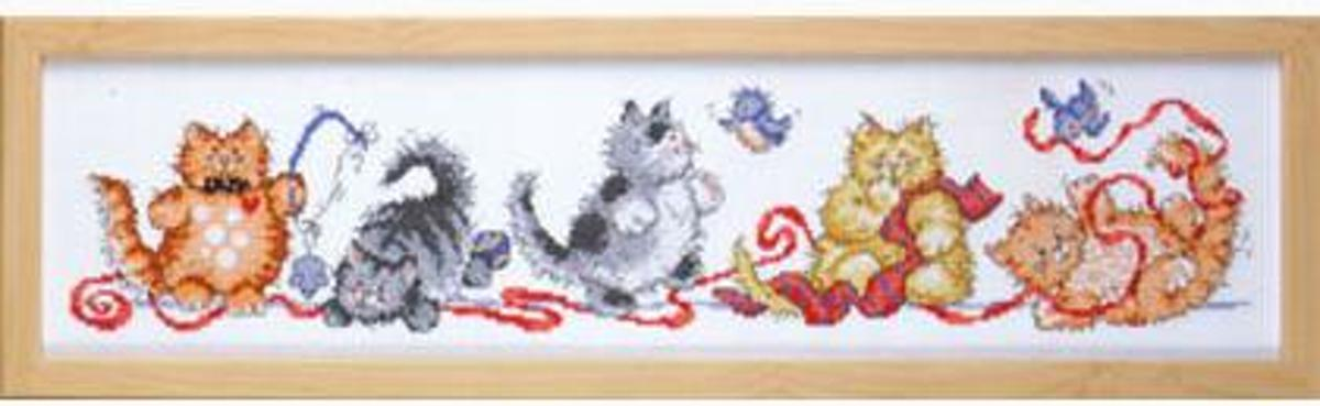 Design Works inc Borduurpakket Poezen Friskey Felines 2315