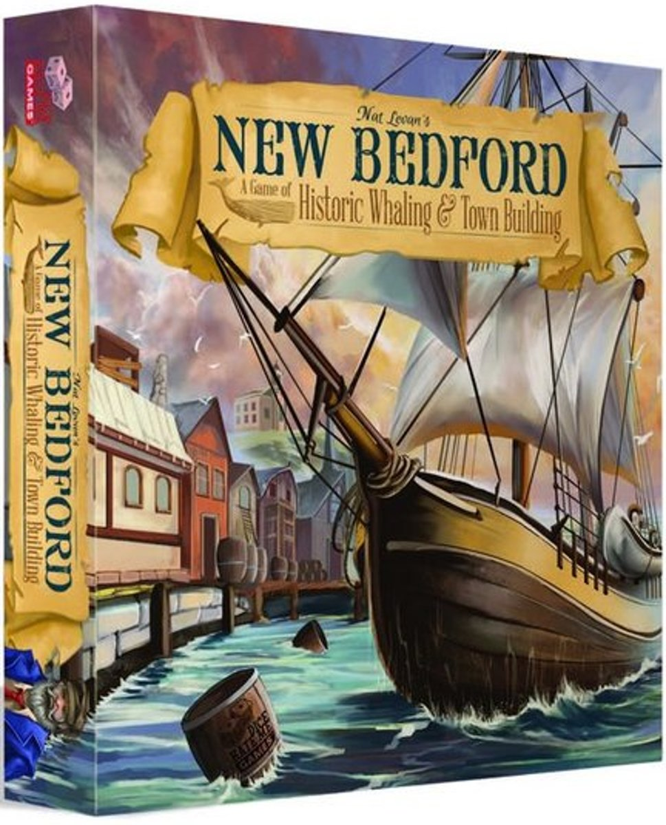 New Bedford Bordspel | A game of Historic Whaling & Town Building | Dice Hate Me Games | Engels