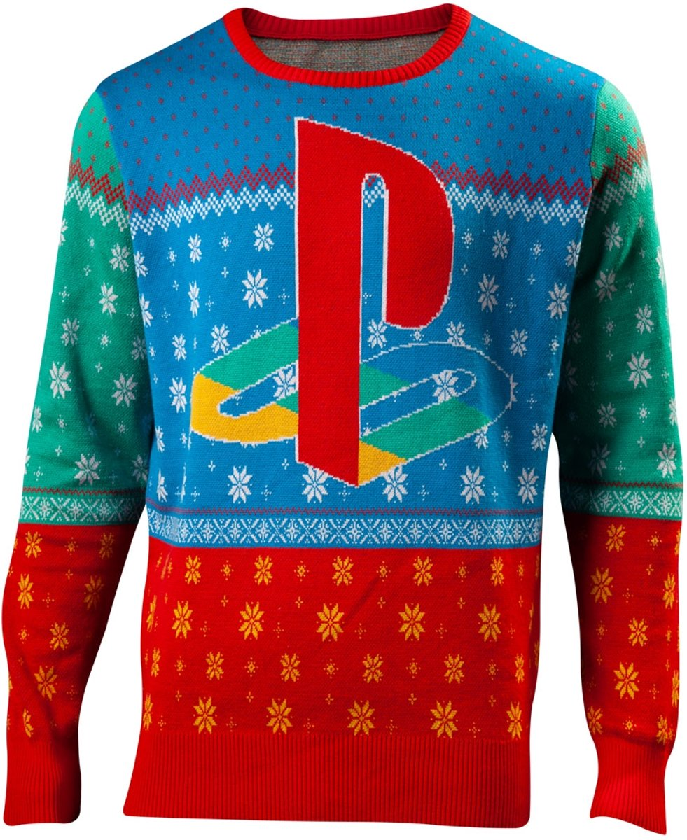 Playstation Kersttrui Maat XL - Multi