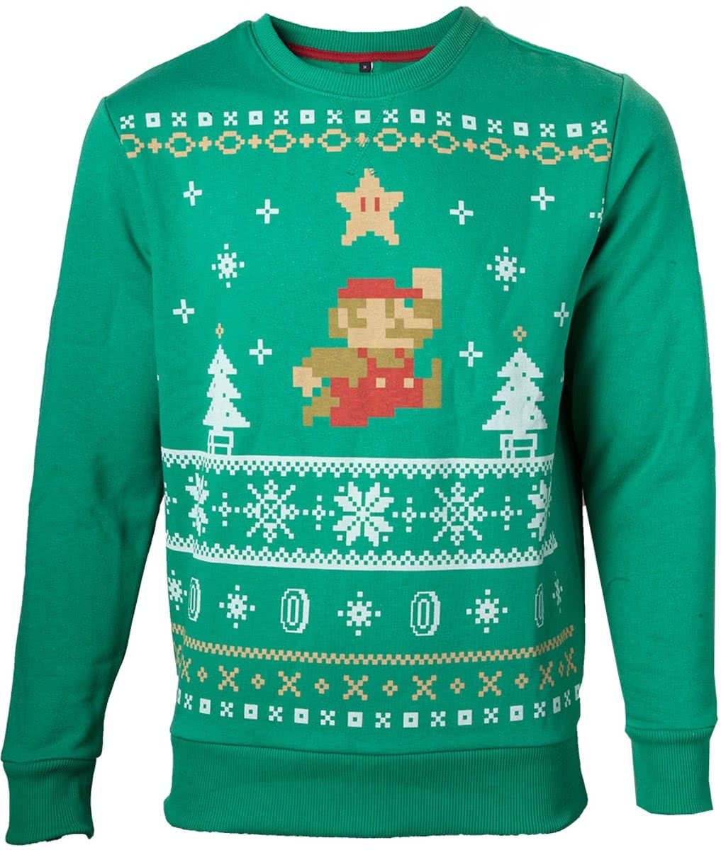 NINTENDO Sweater Jumping Mario Christmas (XL)