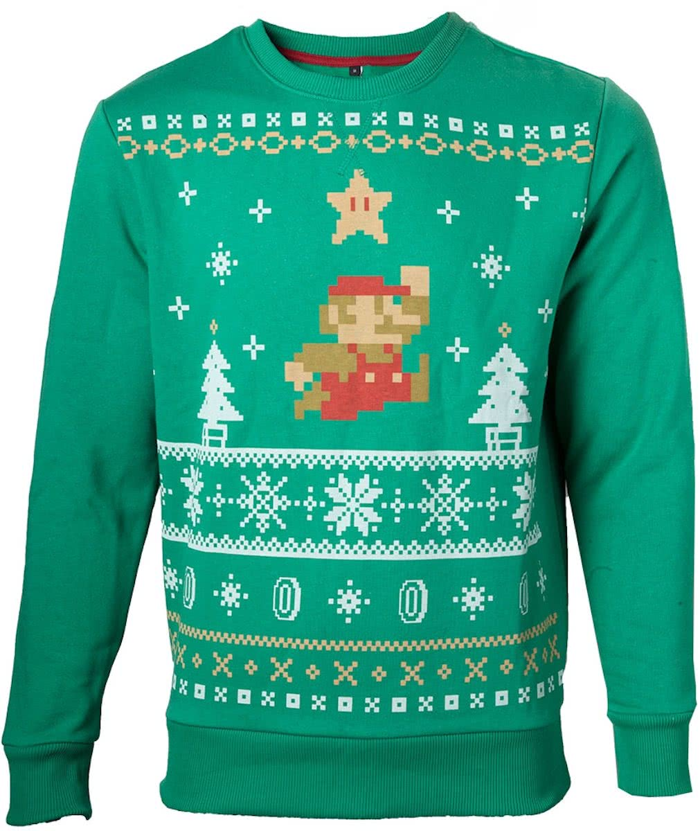 NINTENDO Sweater Jumping Mario Christmas (XXL)