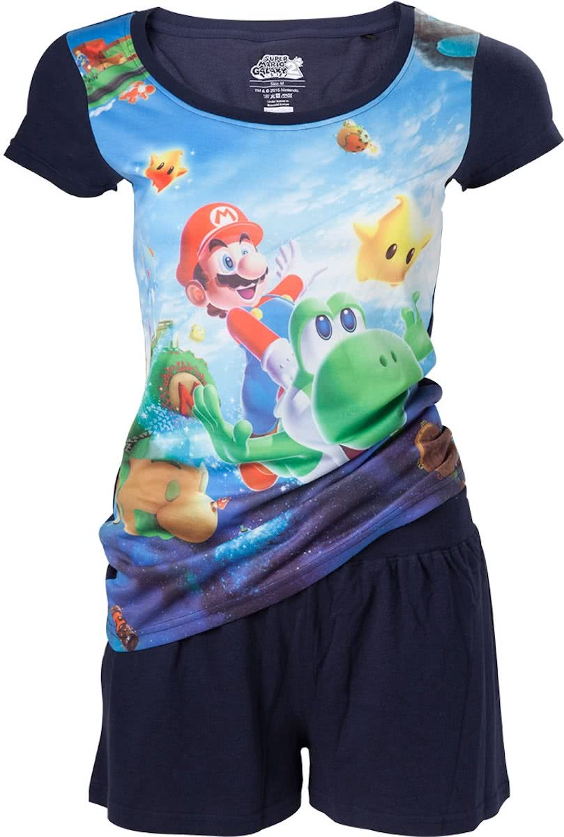 Nintendo - Mario and Yoshi all over printed shortama - S
