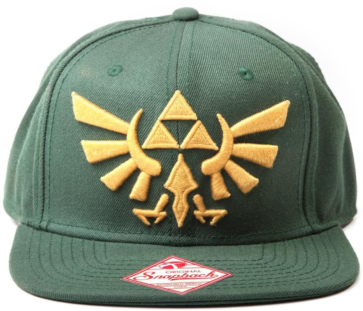 Nintendo - Zelda Embroided Gold Logo Snapback (Green)