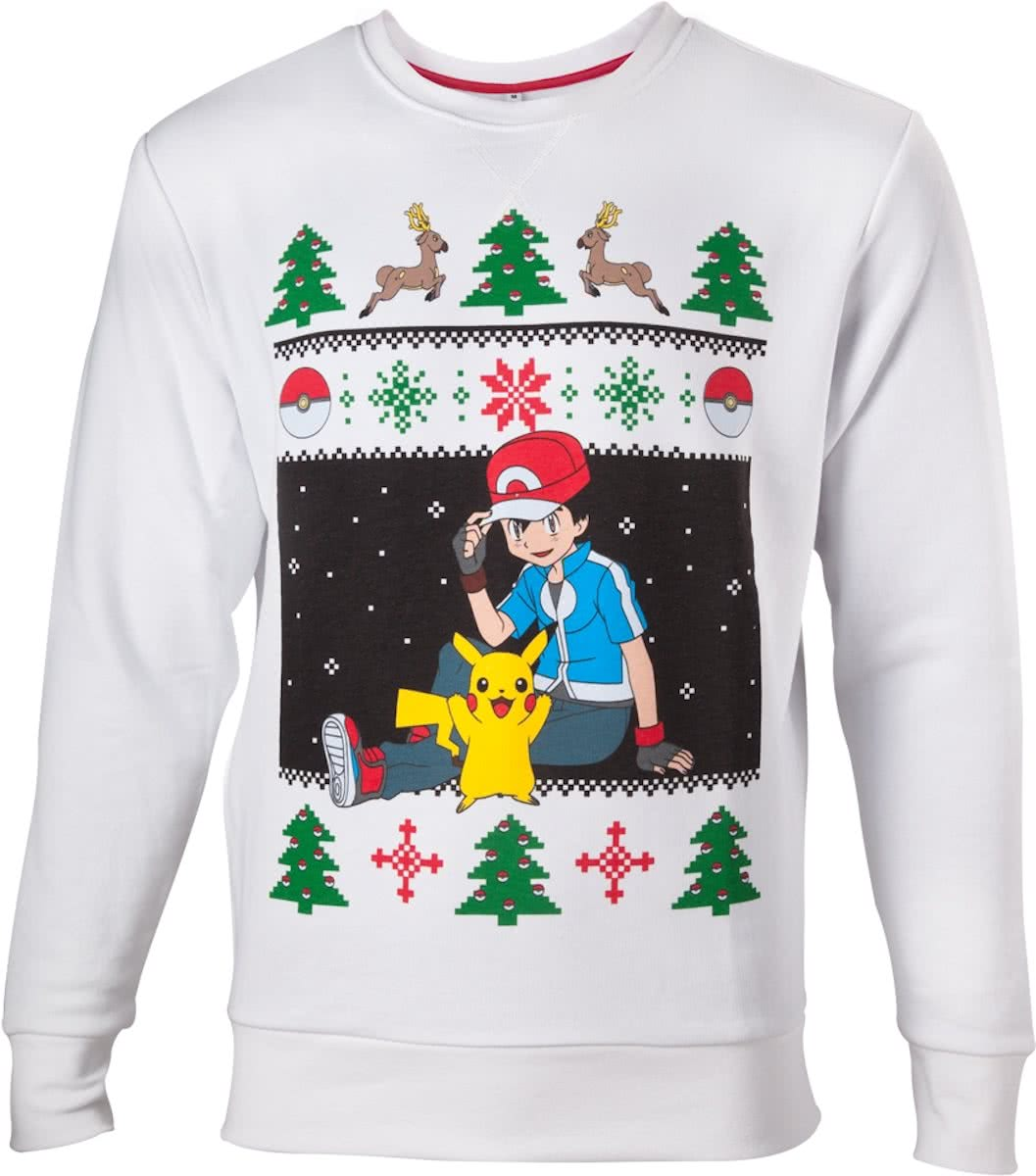POKEMON - Sweater Ash and Pikachu Christmas (L)