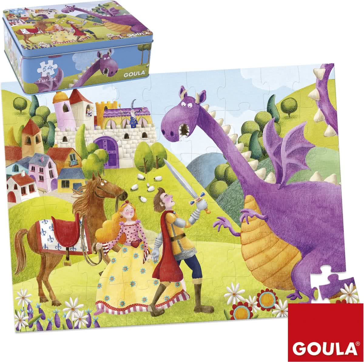 Prince and dragon - Kinderpuzzel - 54 Stukjes