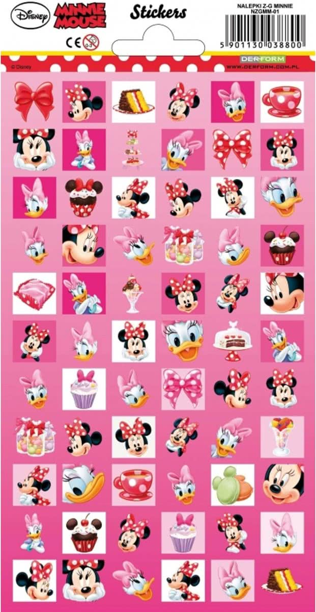 Disney Minnie Mouse stickers 66 stuks - stickervel