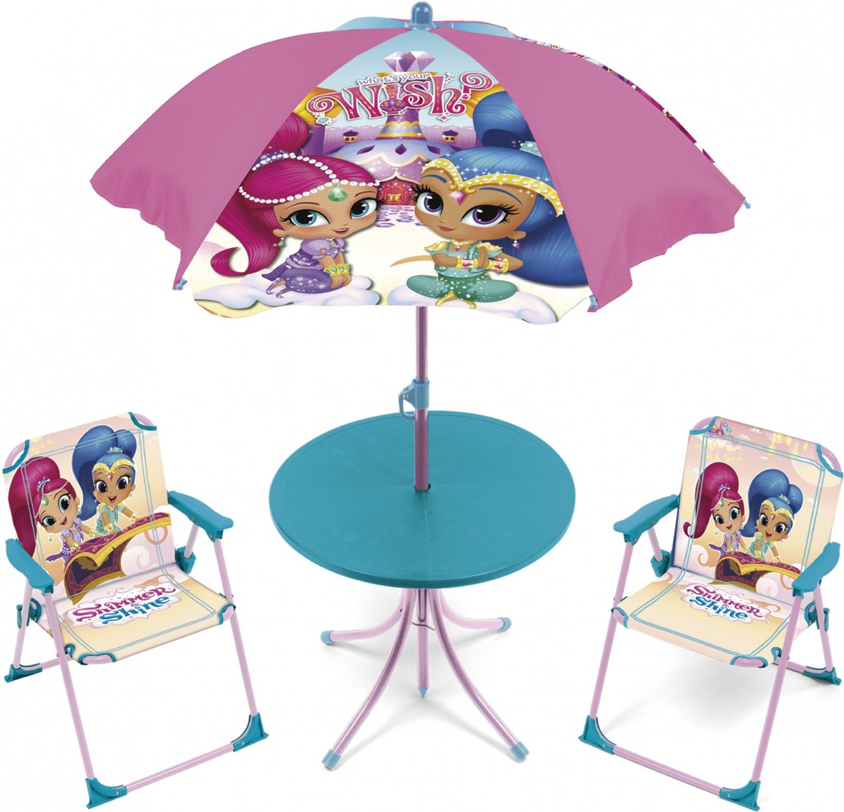 Tuinset Shimmer And Shine Meisjes Roze/blauw 4-delig