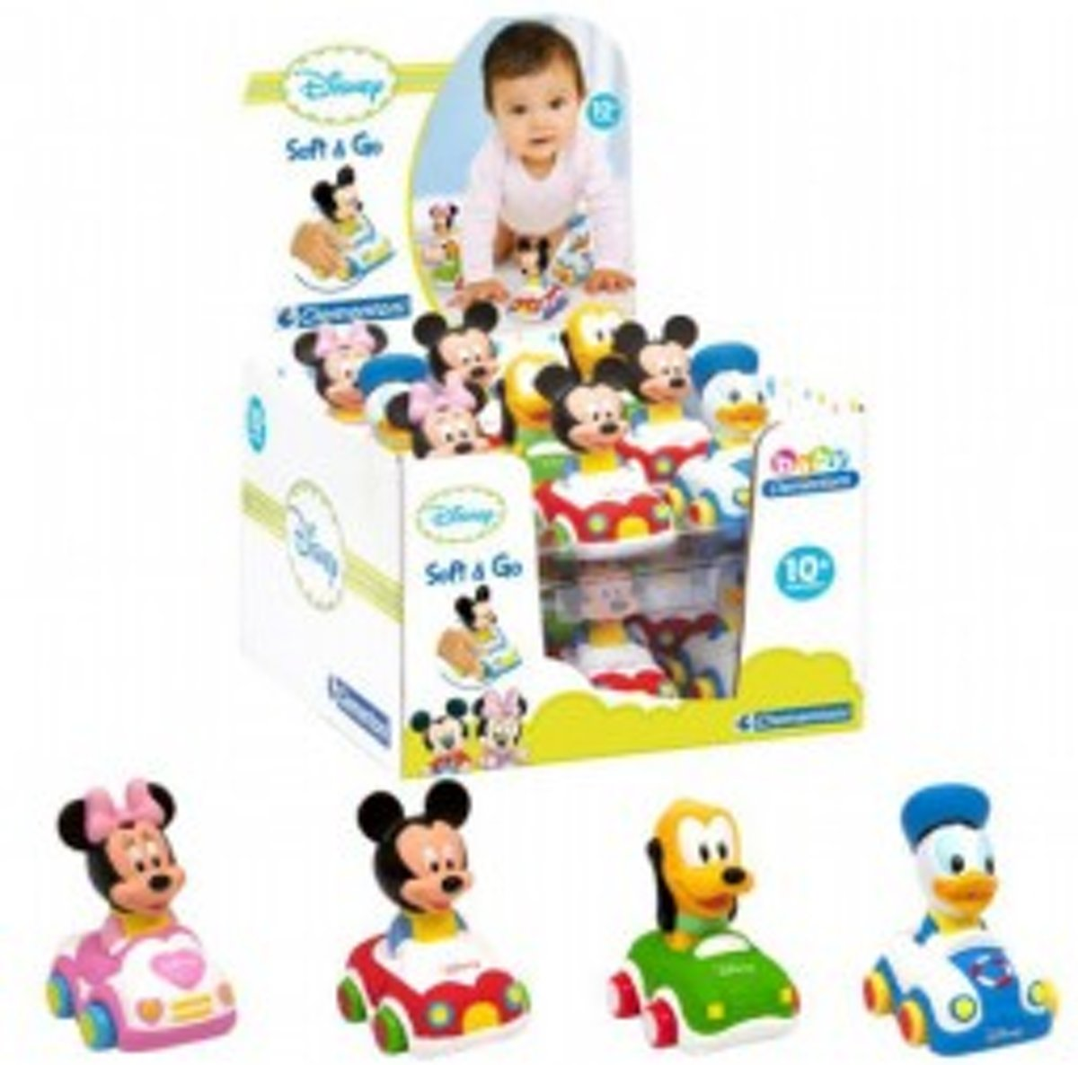soft & go cars Mickey Mouse - 1 stuks