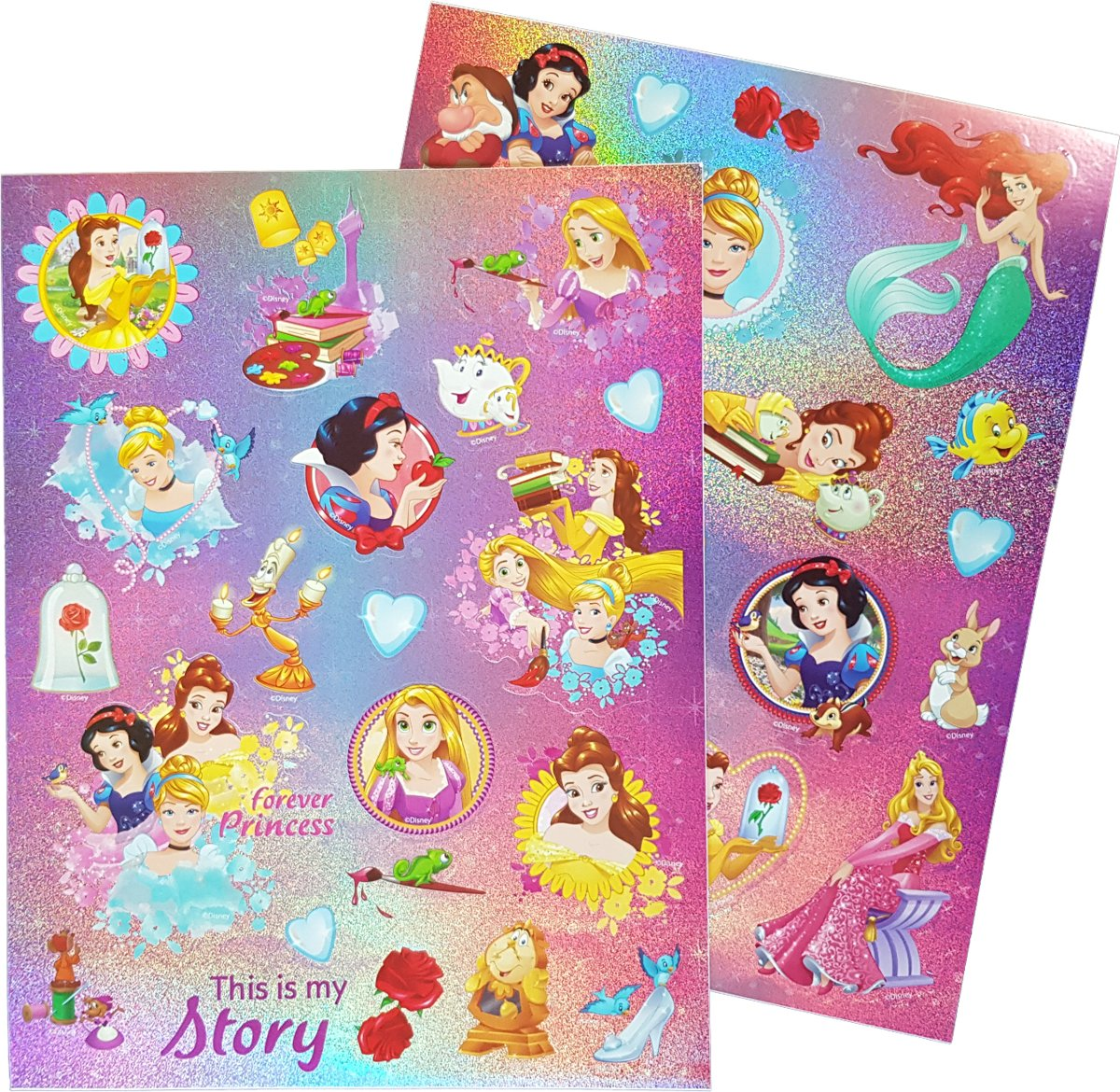 "Glitter stickers Disney's Princess ""This is my story"""