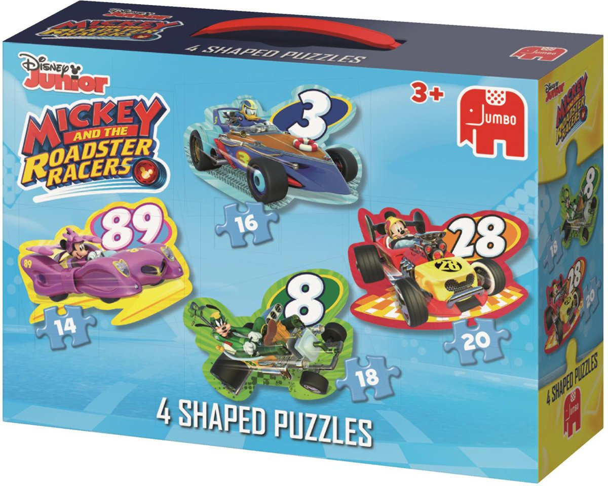 Mickey Mouse Roadster Racers 4in1 Vormpuzzel