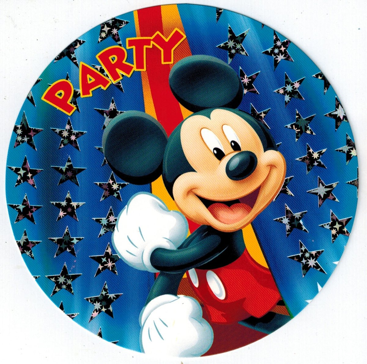 Uitnodigingen   Rond - Mickey Mouse