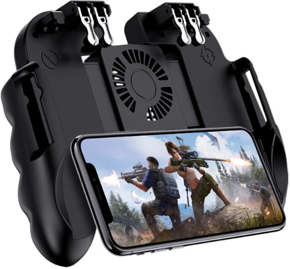 DrPhone GX5 GameController – Joystick – Trigger – IOS – Android – Ventilatie – game accessoires – Smarthphone – Fortnite – PUBG – Call Of Duty – Trigger Buttons
