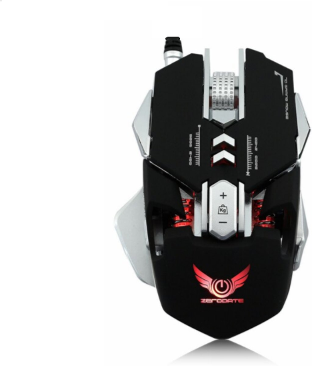 DrPhone Xero Serie Gaming Muis – Professional 3200DPI Optical Programmable Wired Gaming Mouse- LED- programeerbaar