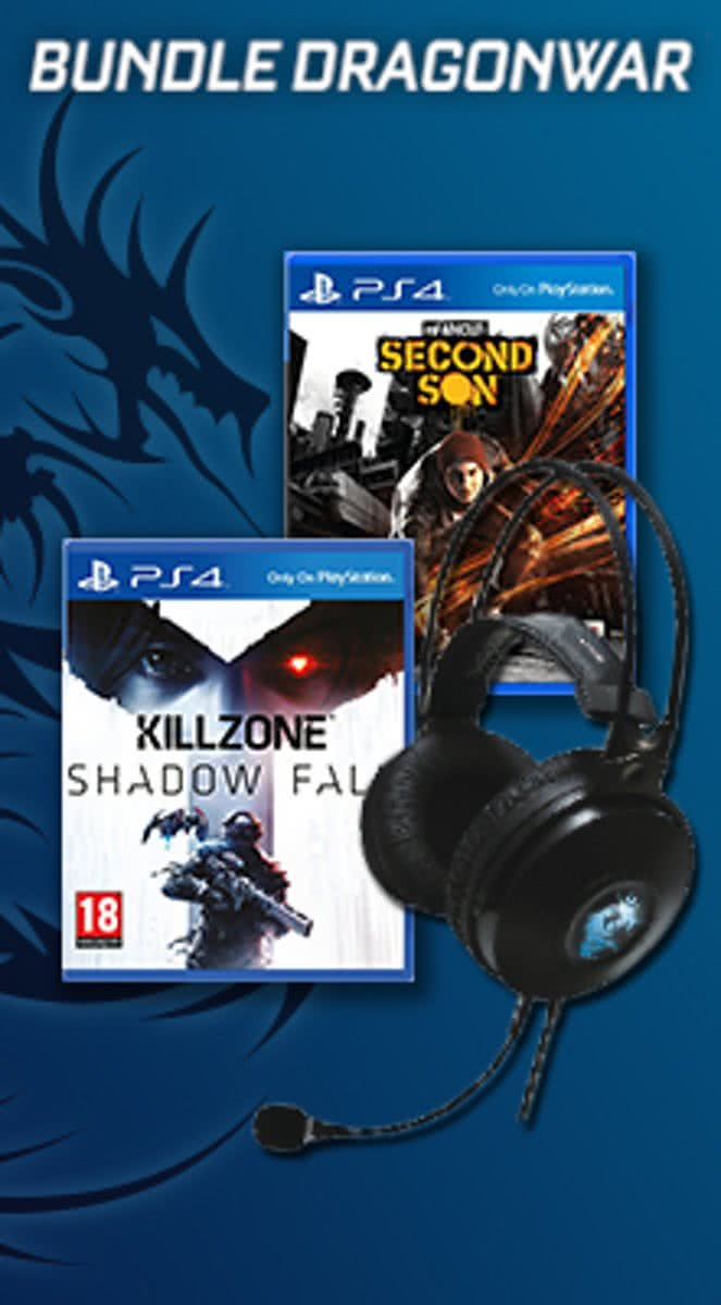 Bundle Headset Garand PS4 + Infamous : Second Son + Killzone : Shadowfall