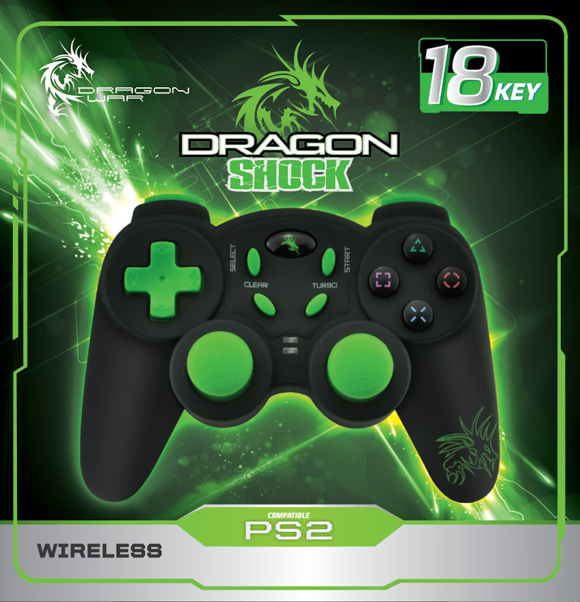 Dragonwar - Dragon Shock Wireless Controller - PS2