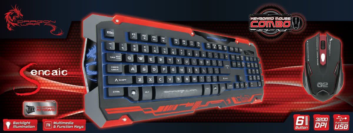 Dragonwar - Sencaic Black/Red Qwerty