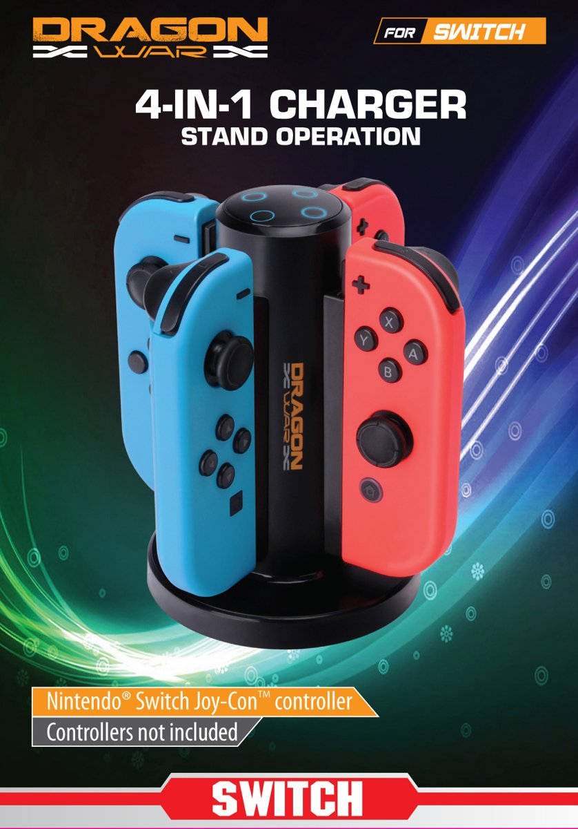 Dragonwar Switch 4in1 Charging Stand