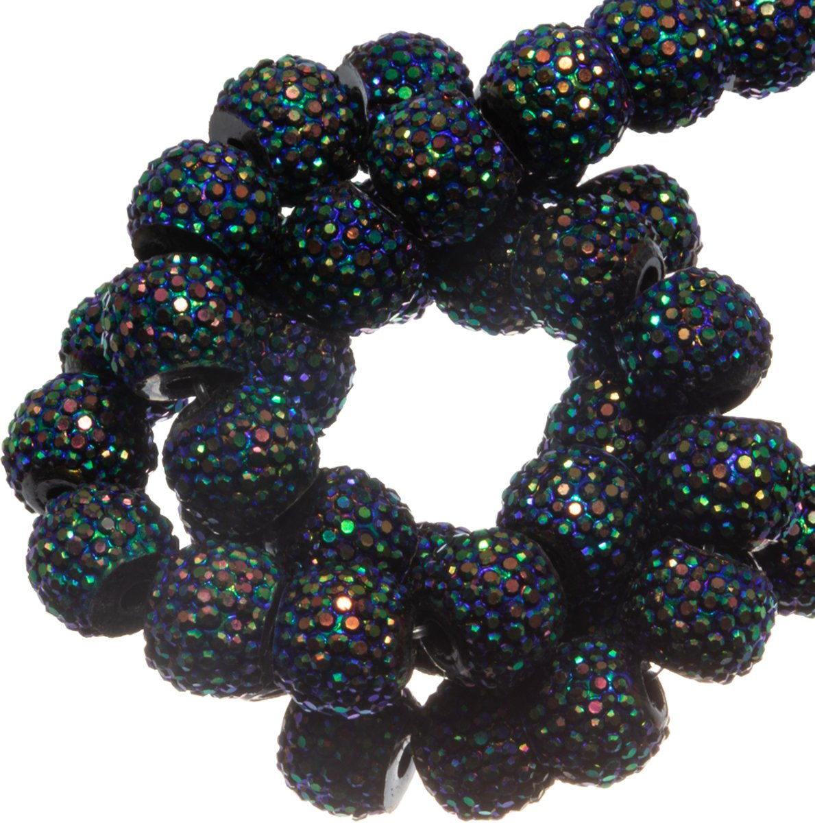Acryl Kralen Rhinestone (8 mm) Shine Mix Black (25 Stuks)