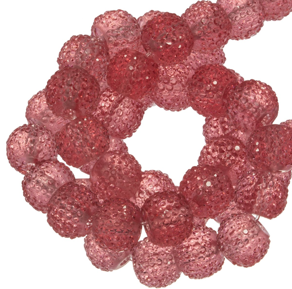 Acryl Kralen Rhinestone (8 mm) Transparent Rouge (25 Stuks)