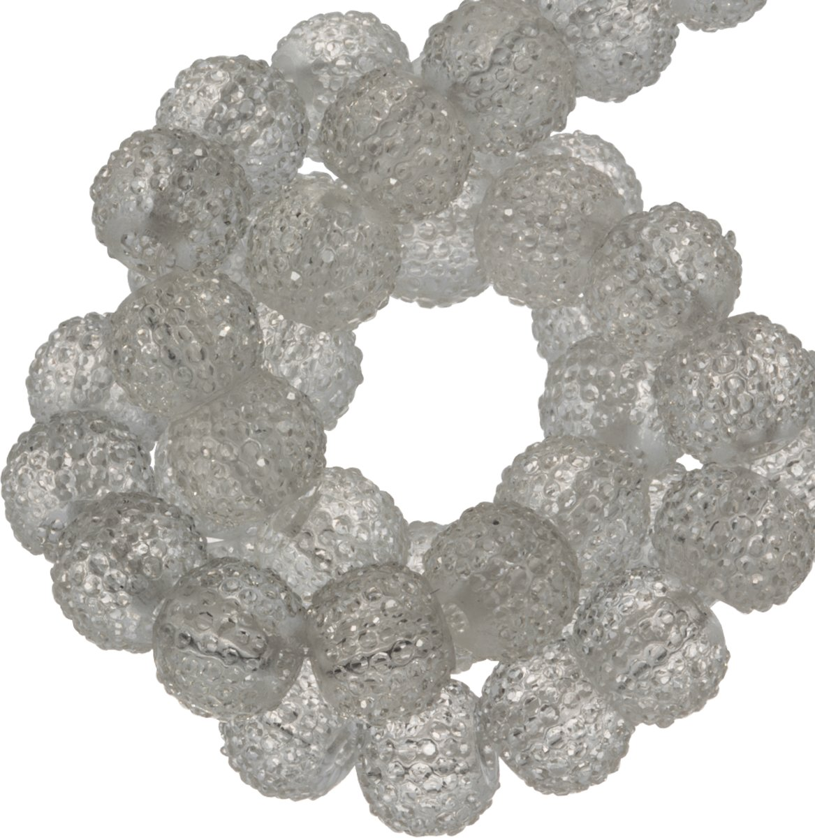 Acryl Kralen Rhinestone (8 mm) Transparent White (25 Stuks)
