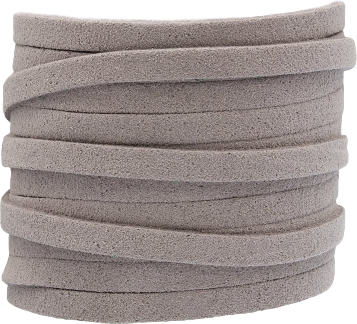 Faux Suede Veter (5 mm) Light Grey (5 Meter)
