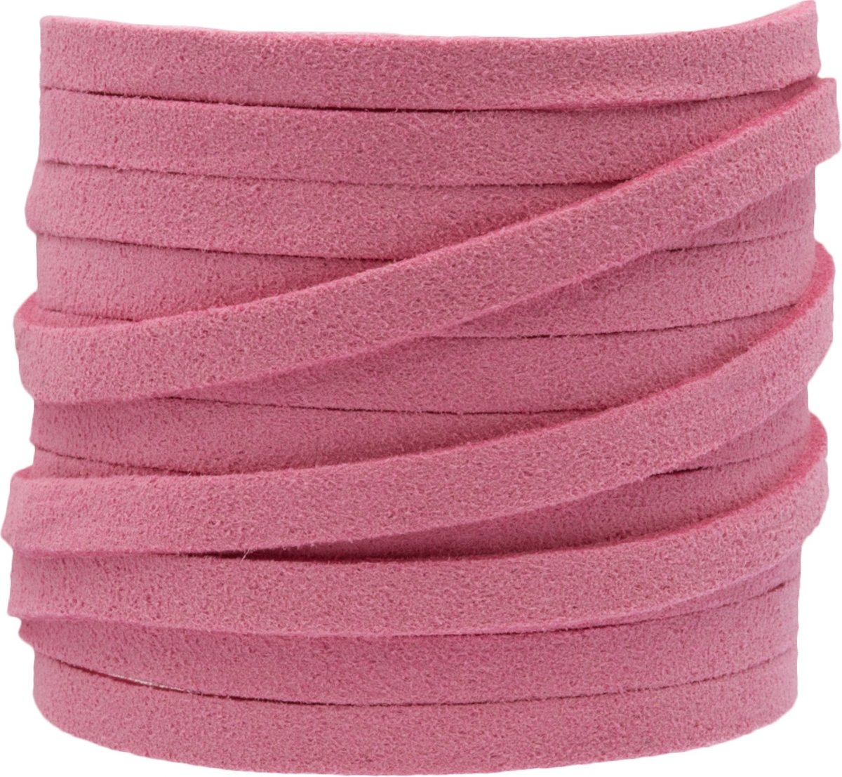 Faux Suede Veter (5 mm) Party Pink (5 Meter)
