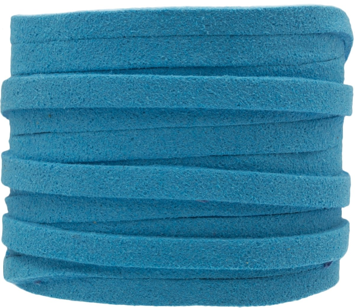 Faux Suede Veter (5 mm) Sky Blue (5 Meter)