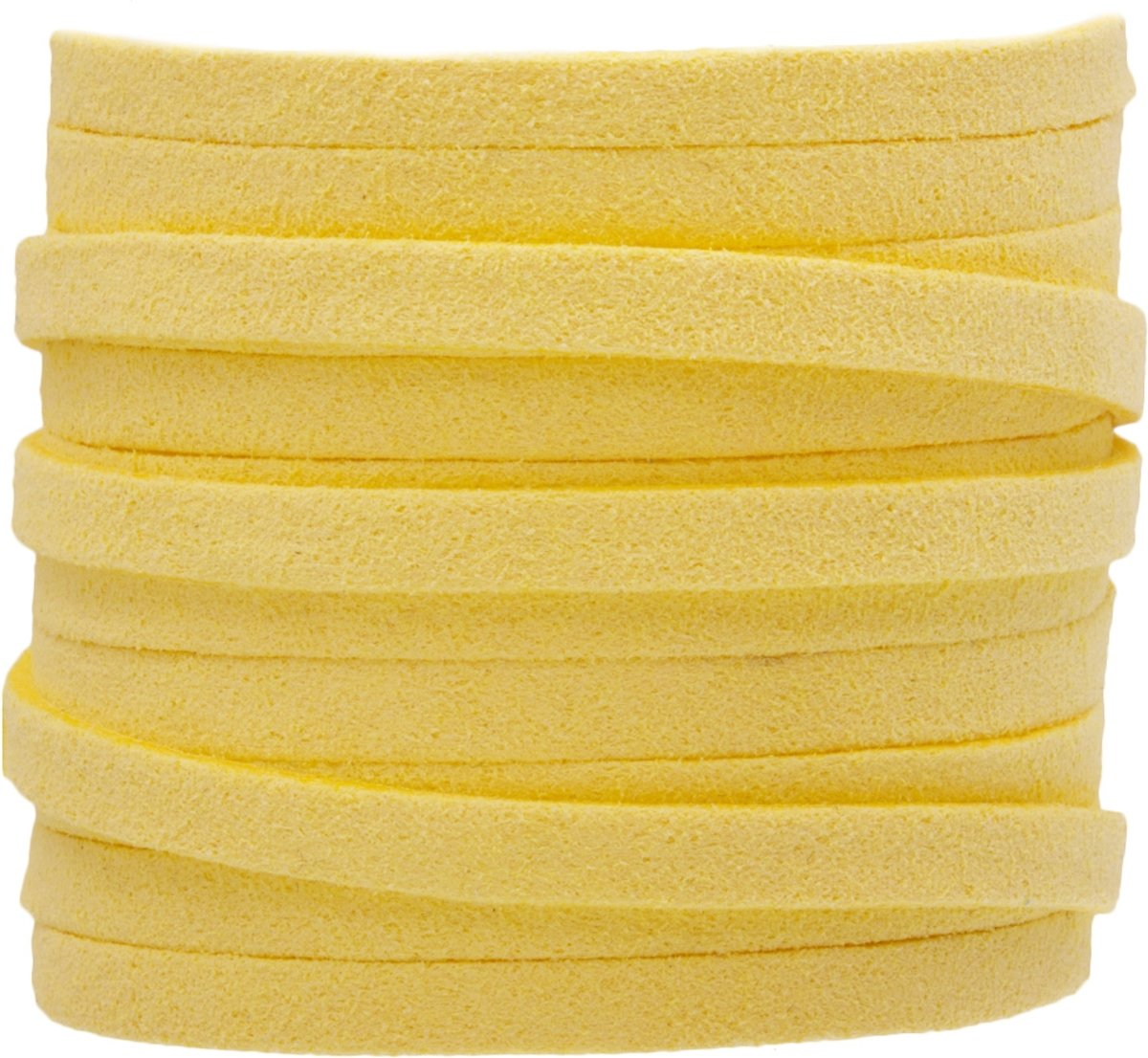 Faux Suede Veter (5 mm) Yellow (5 Meter)