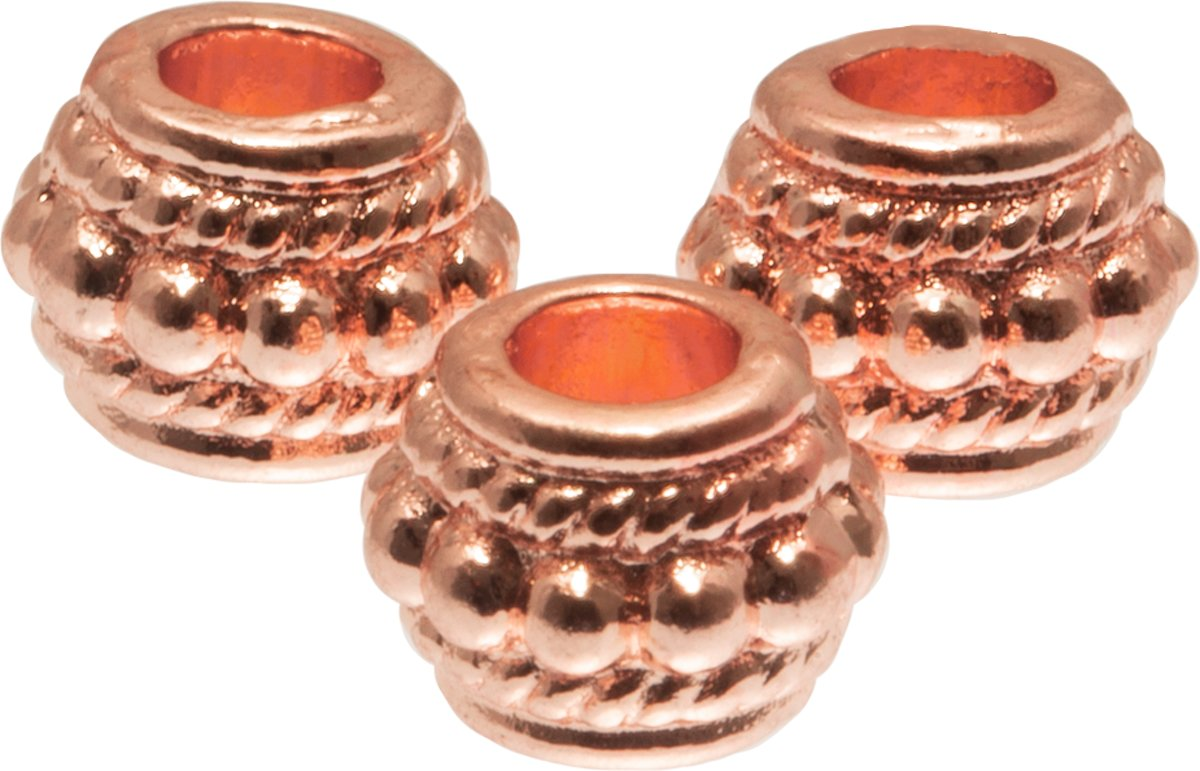 Metalen Kralen (6 mm) Rose Goud (40 Stuks)