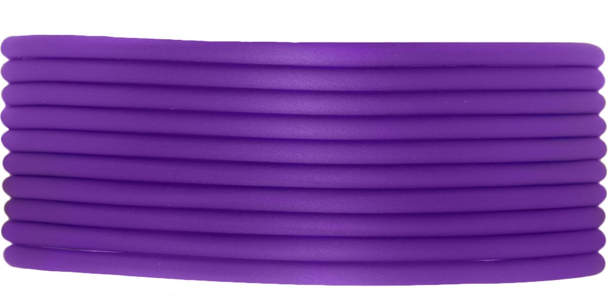 Rubber Koord (2 mm) Perfect Purple (5 Meter) holle binnenkant