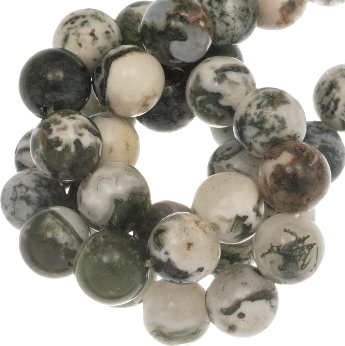 Tree Agate Frosted Kralen (10 mm) 36 Stuks