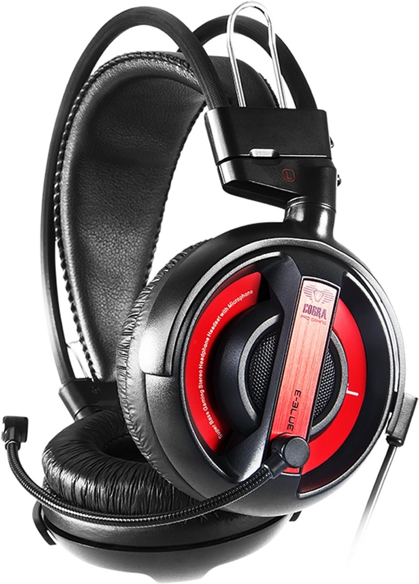 E-blue Cobra HS Gaming Headset PC - Rood