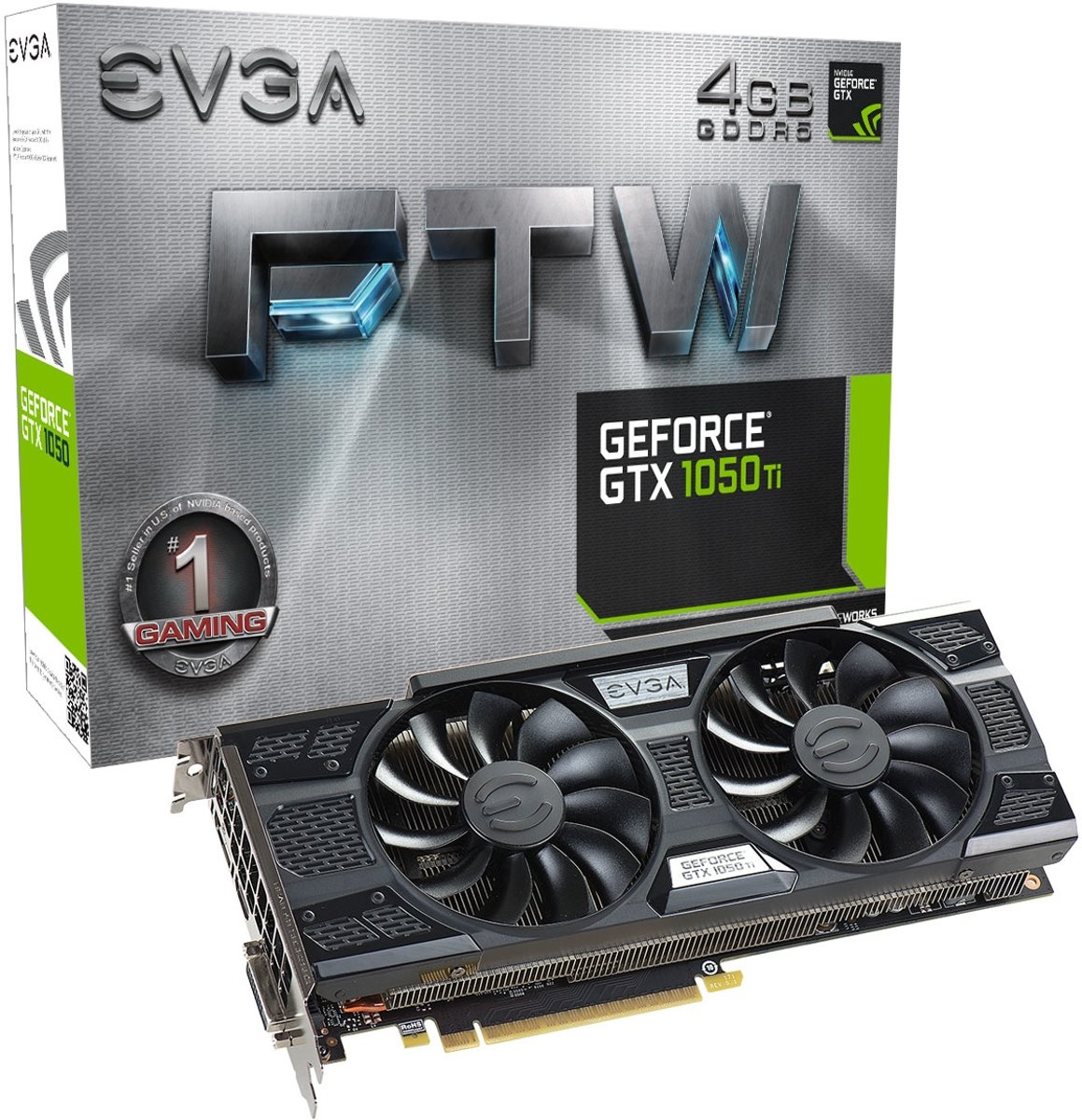 GeForce GTX 1050 Ti FTW GAMING ACX 3.0 GeForce GTX 1050 Ti 4GB GDDR5