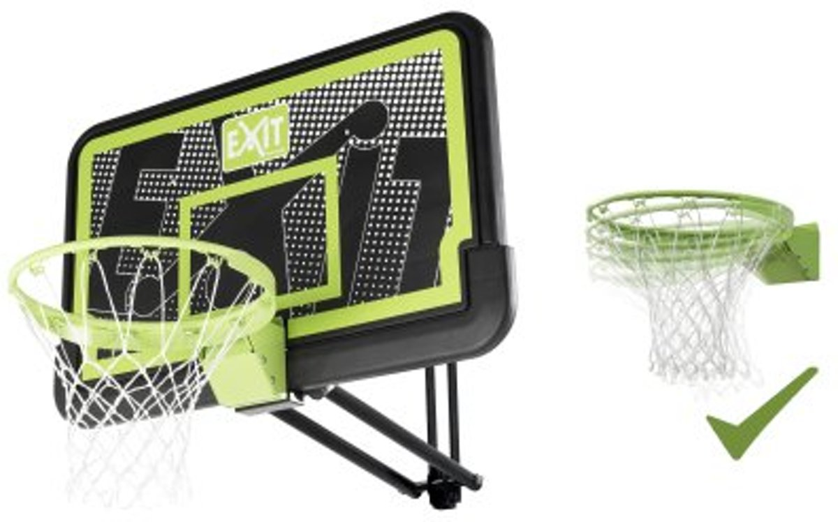 Galaxy basketbalbord voor muurmontage met dunkring - black edition