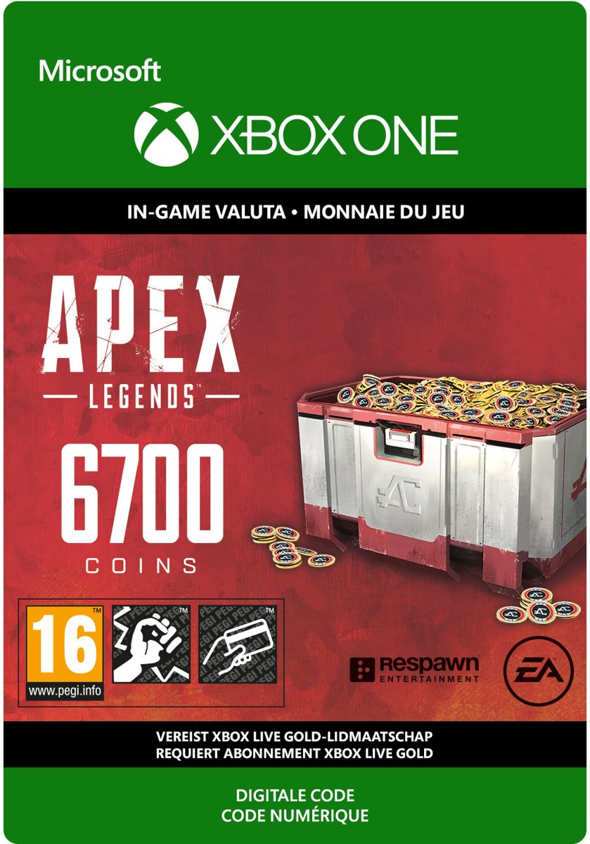 APEX Legends: 6.000 (+ 700 Bonus) Coins - Xbox One download