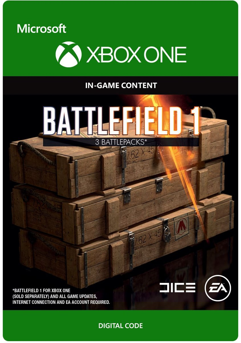 Battlefield 1 - 3 Battlepacks - Xbox One