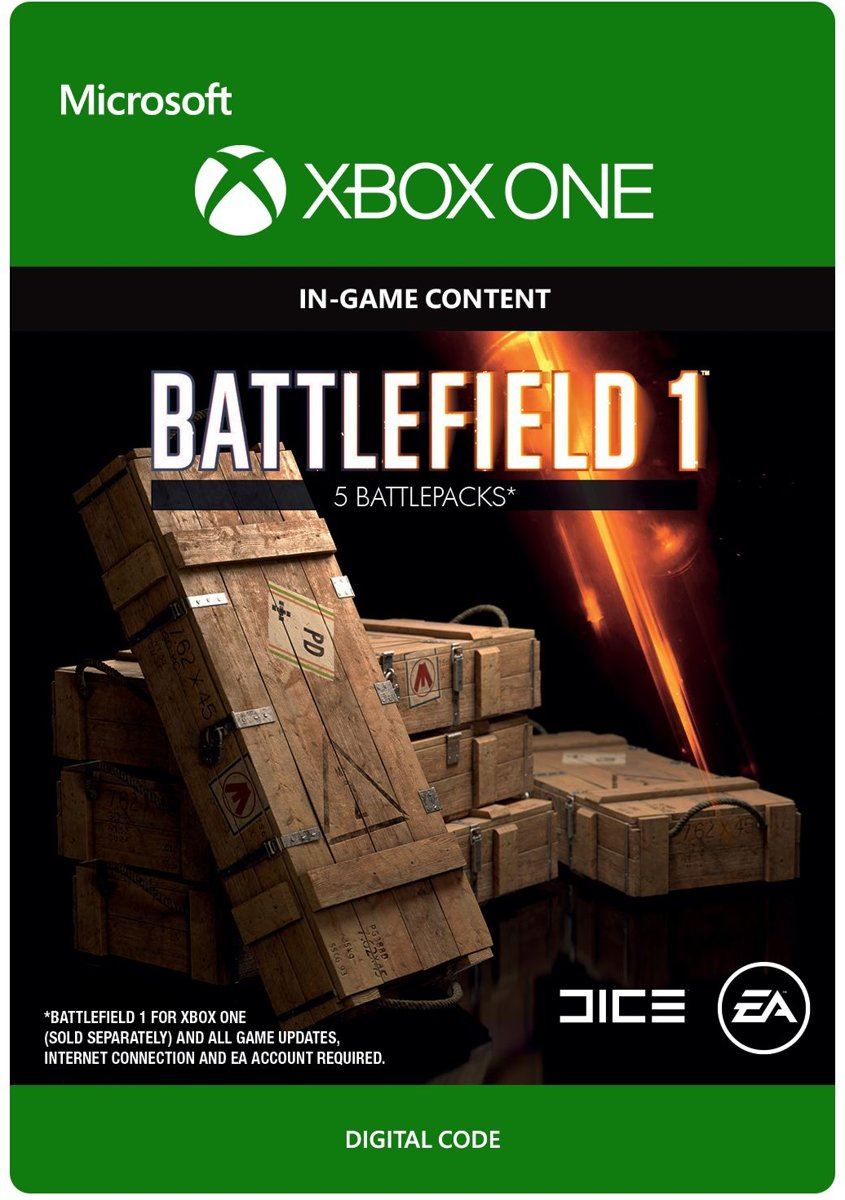 Battlefield 1 - 5 Battlepacks - Xbox One