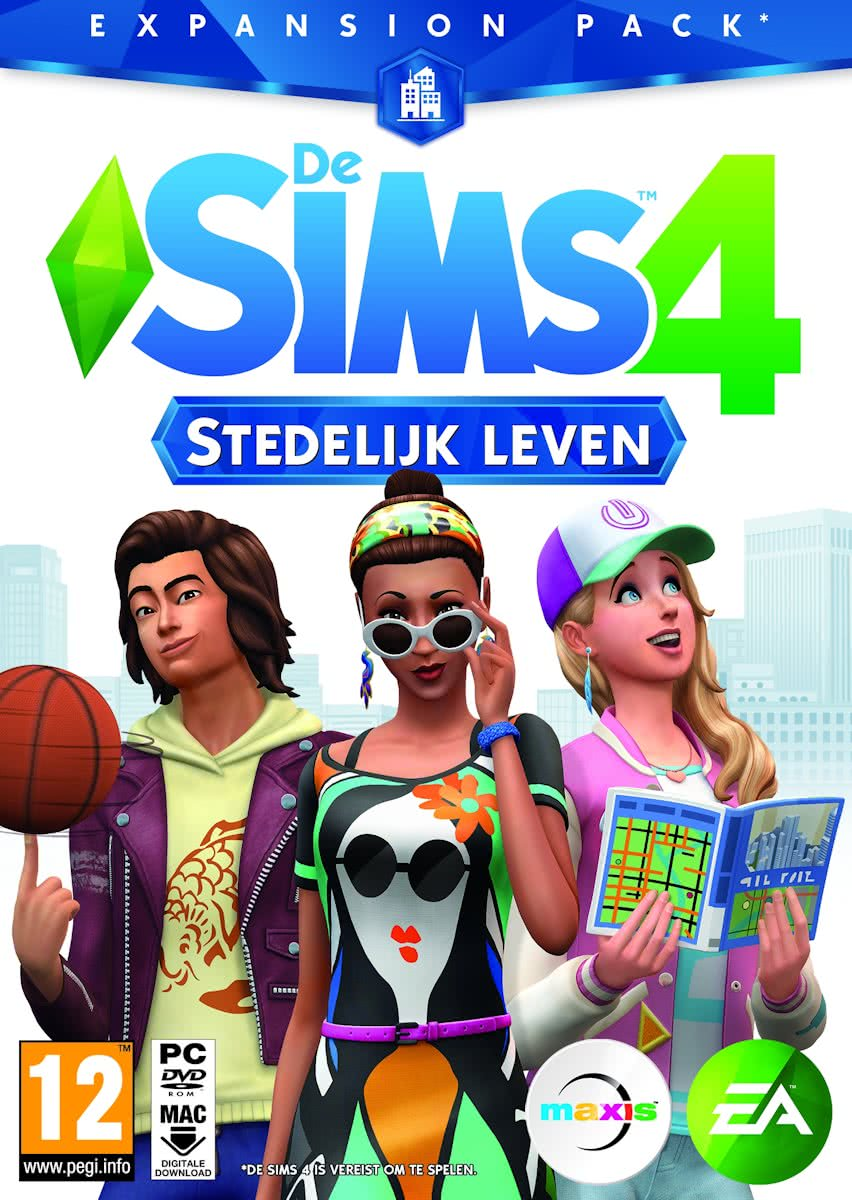 De Sims 4: Stedelijk Leven - Windows + MAC - Add-On - Code in a Box