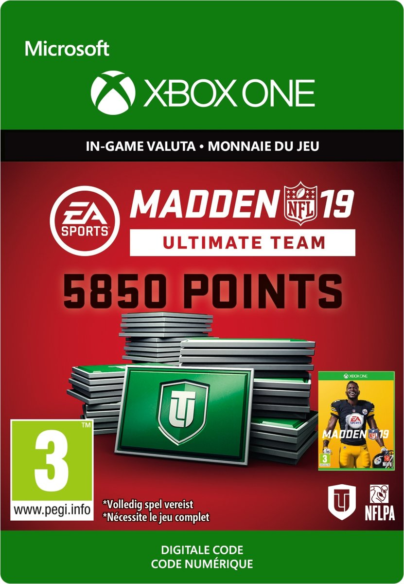 Madden NFL 19: 5.850 Madden Ultimate Team Punten  - Xbox One