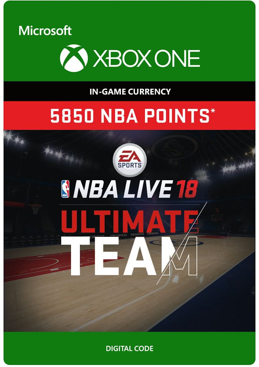 NBA LIVE 18: Ultimate Team - 5.850 Points - Xbox One