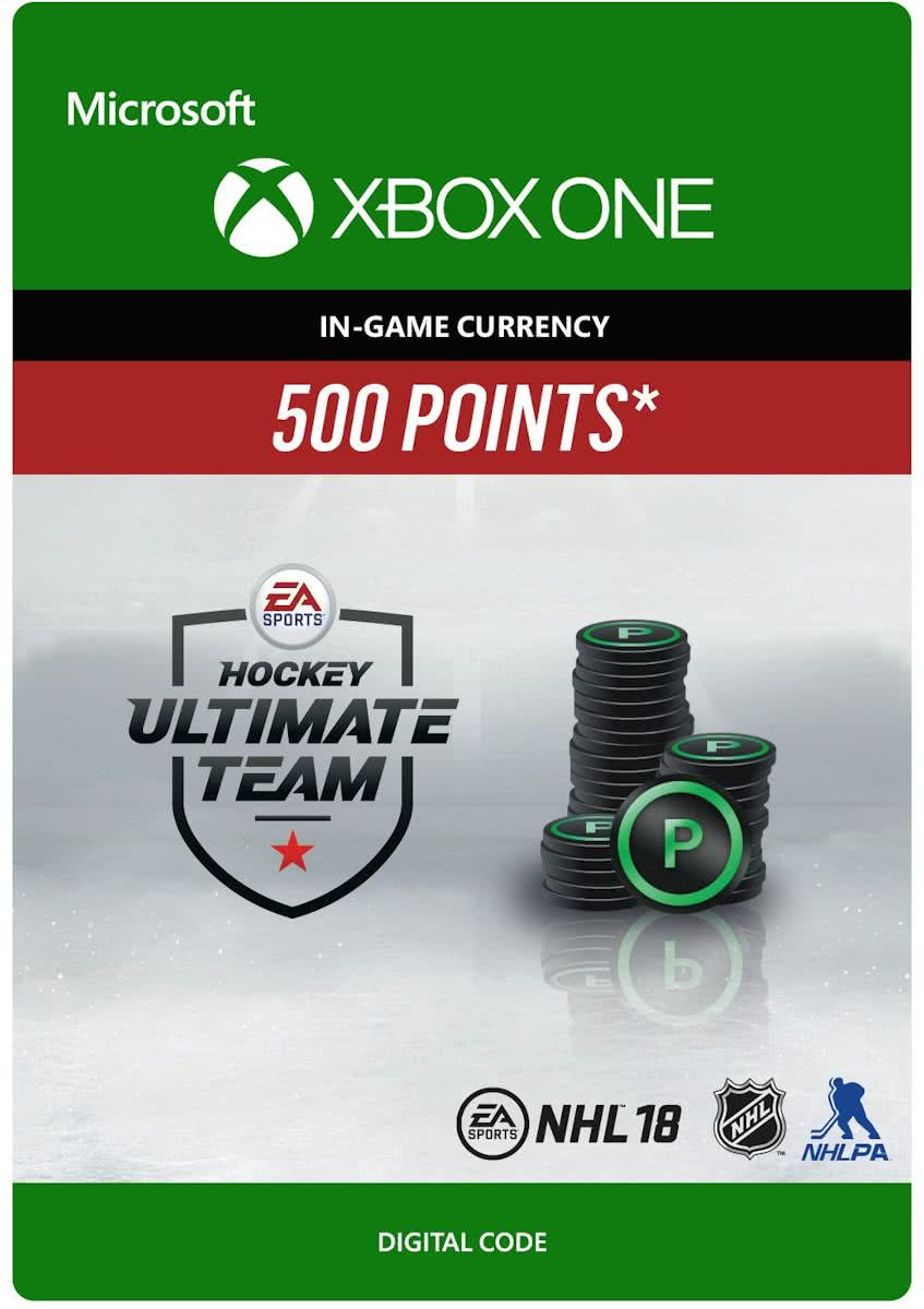 NHL 18 Ultimate Team - NHL Points 500 - Consumable - Xbox One