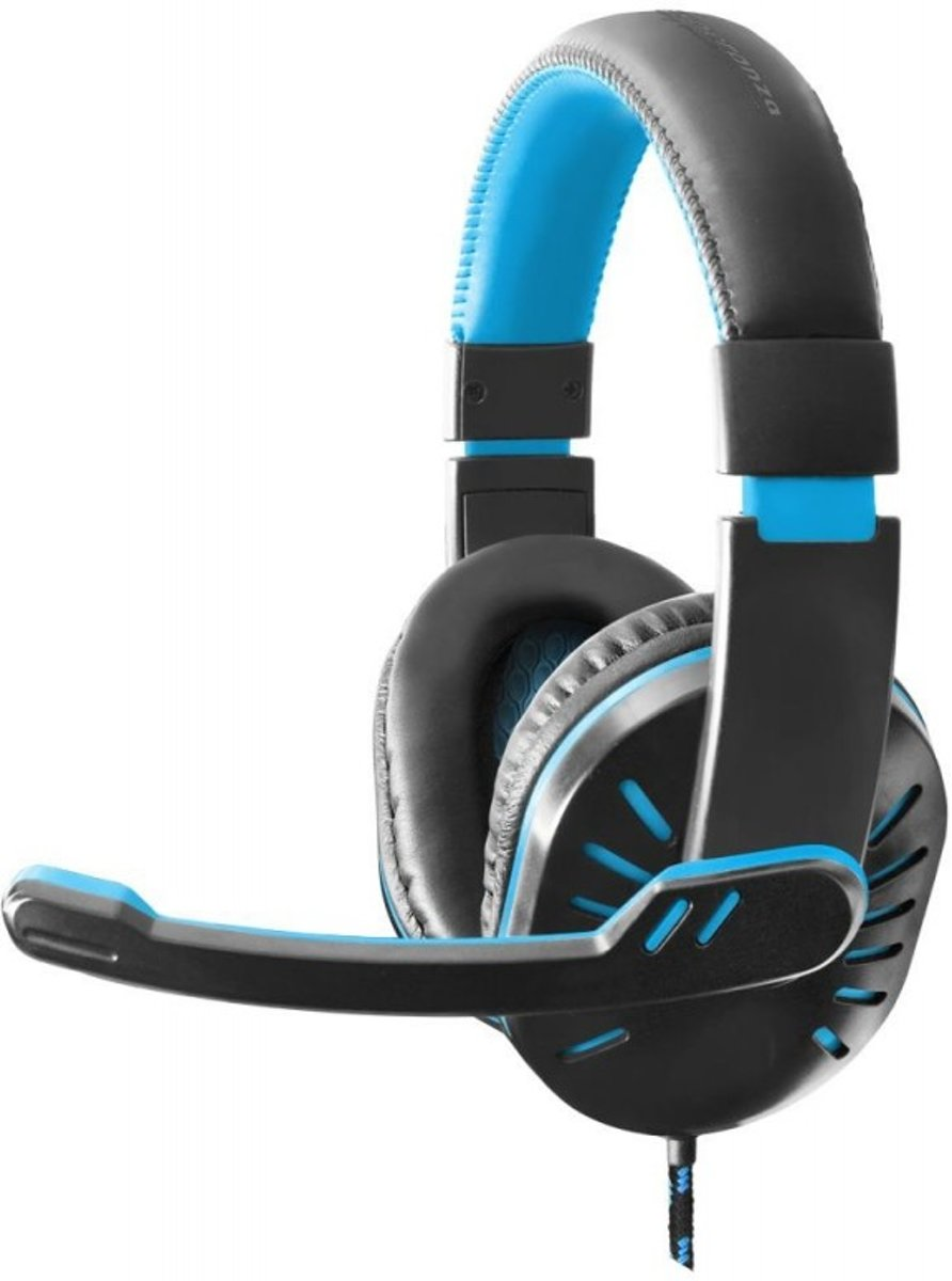 Gaming Headset met Microfoon PS4, PC, Windows, Mobile, Xbox One – Wired met Volumeregeling– Blaauw/Zwart
