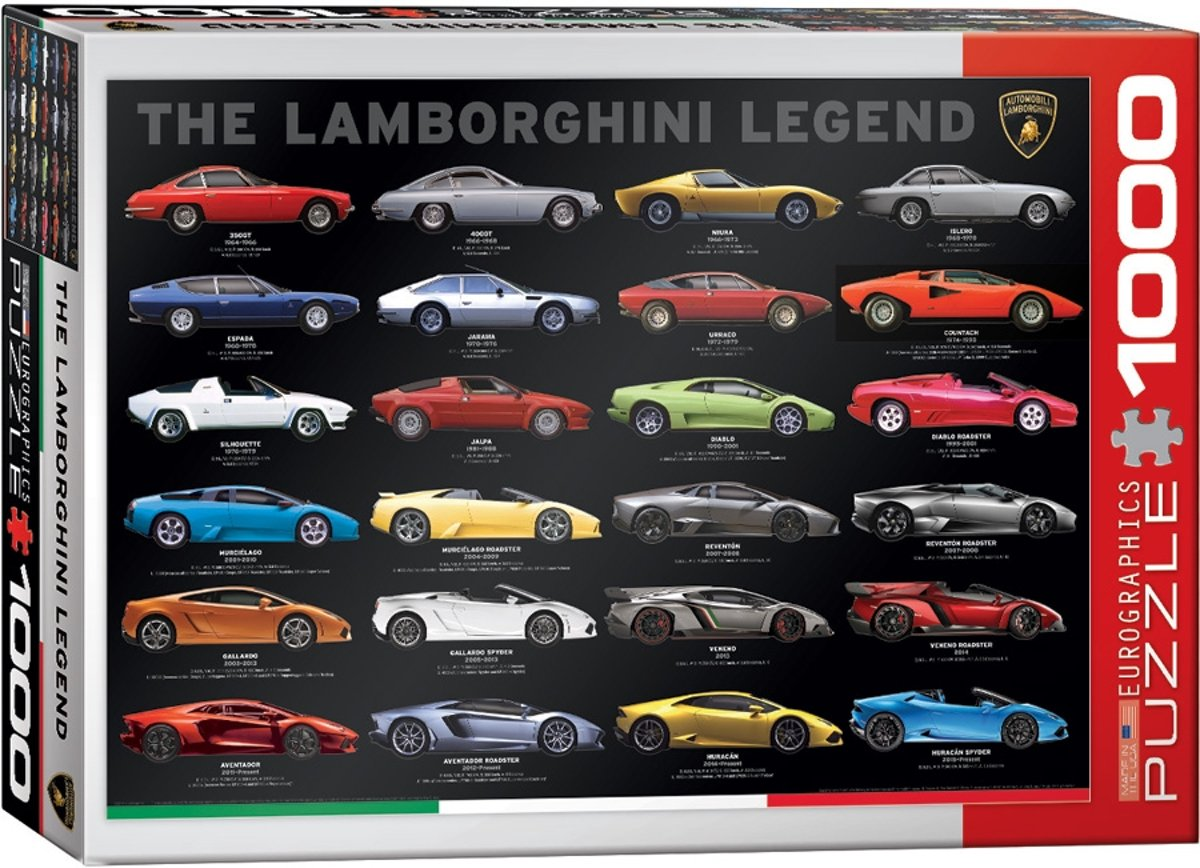 Eurographics Puzzle - The Lamborghini Legend - 1000 stukjes