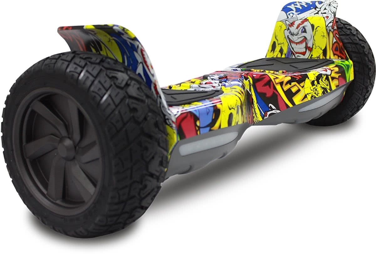 EVERCROSS CHALLENGER BASIS HOVERBOARD, GYROPODE HUMMER ALLE TERREINEN 8,5 INCHES Hip Hop Graffitti
