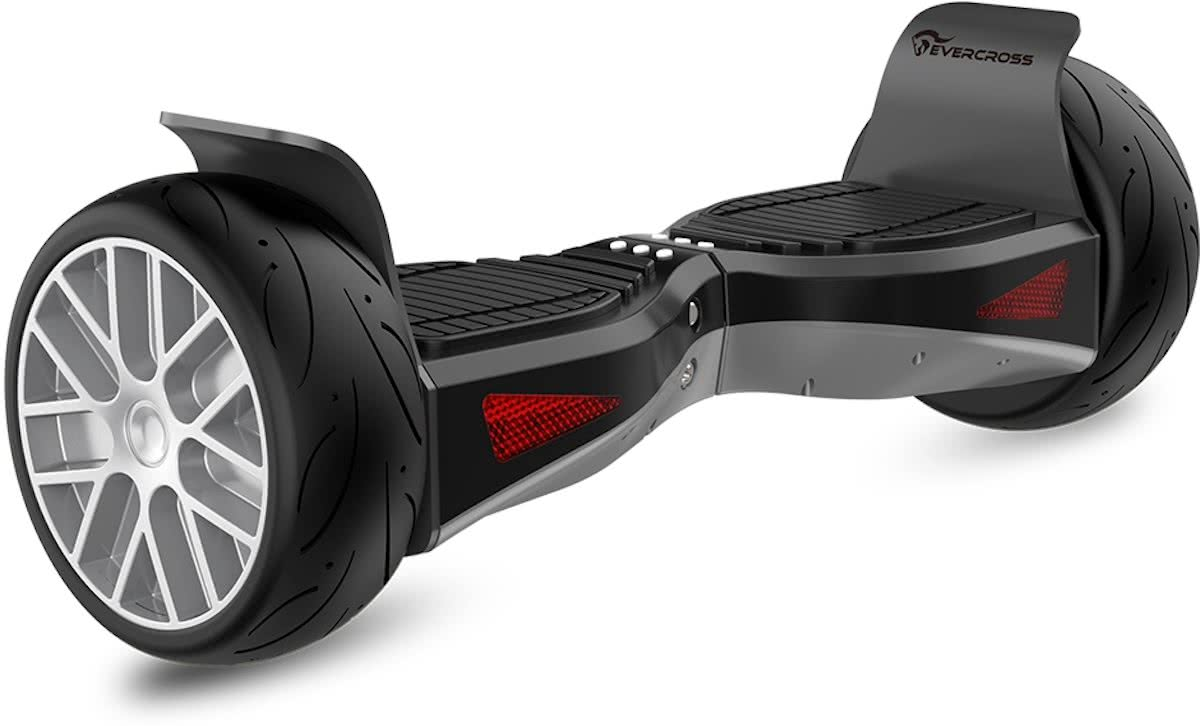 EVERCROSS SHADOW HOVERBOARD HUMMER GYROPODE ALL TERRAIN 8.5 INCHES ZILVER BLUETOOTH APPLICATION