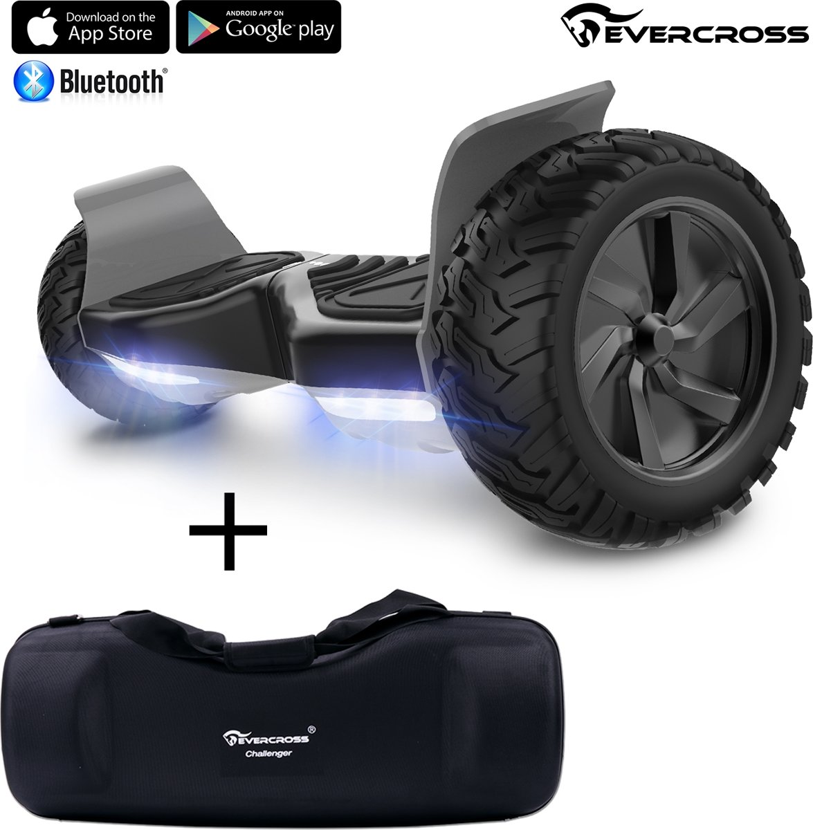 Evercross Challenger Basic 2018 Best 8.5 inch SUV Hoverboard + Draagbare waterdichte sporttas 8.5 inch