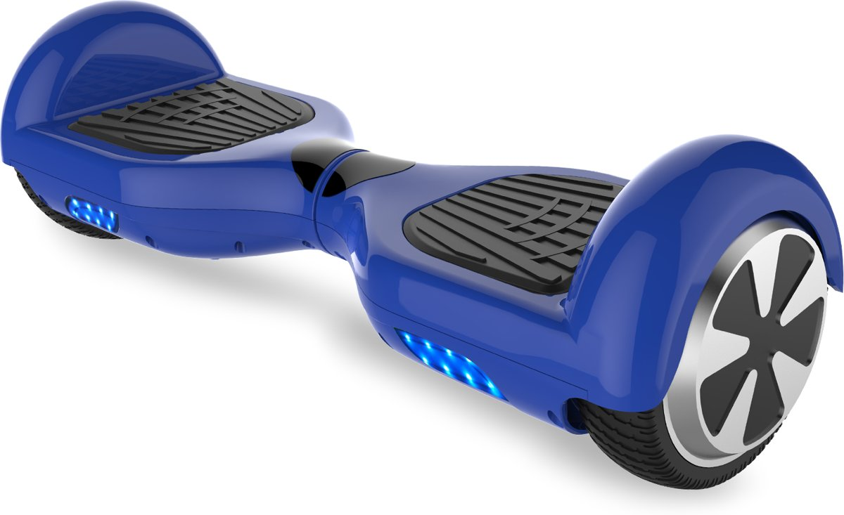 Evercross Self Balancing Smart Hoverboard Balance Scooter 6.5 inch/ LED Verlichting /speciaal ontwerp - Blauw