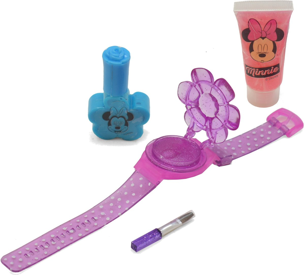 Falca Make-upset Minnie Mouse Met Horloge 4-delig
