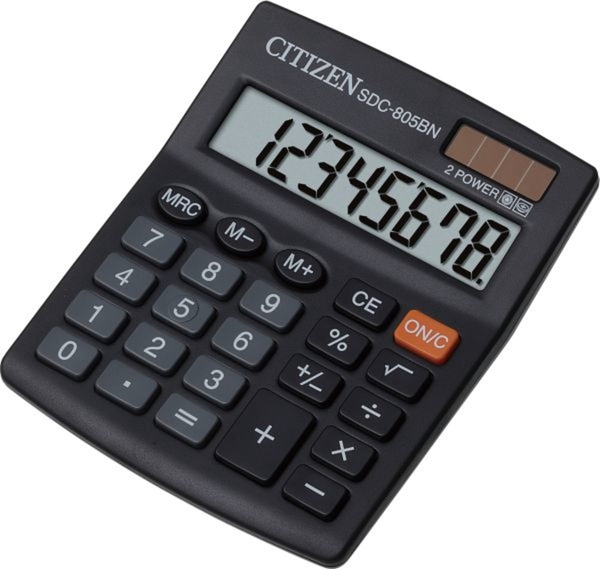Citizen SDC-805BN Desktop Basisrekenmachine Zwart calculator