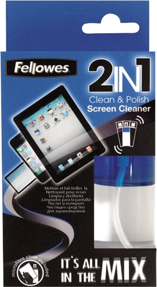 2 IN 1 SCREEN CLEANER & CLOTH 50ML